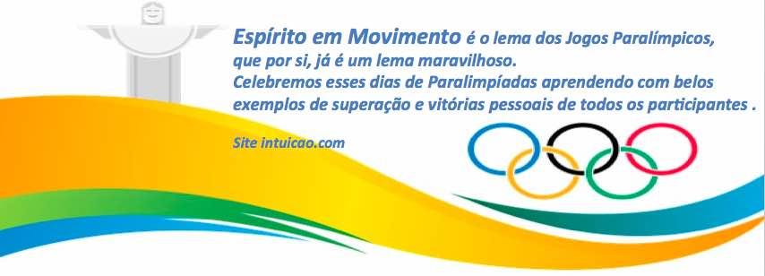 As Paralimpíadas estão aí!